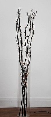 50 Led White Fairy Lights/5 Black Twigs/clear Cable (Mains Transformer Included)