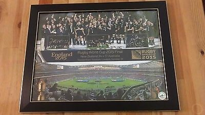 Official framed montage of the All Blacks 2015 Rugby World Cup Celebrations