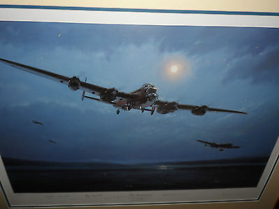 Limited edition veteran signed aviation art print The Dambusters by Simon Smith