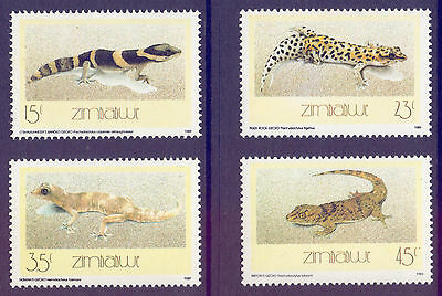 ZIMBABWE 1989 stamps Geckos Lizards Reptiles um (NH) mint