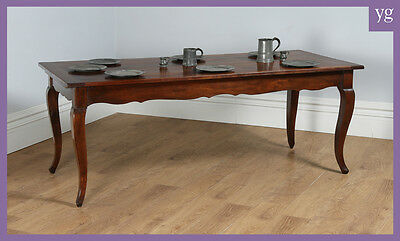 Antique French Cherry Fruit Wood Farmhouse Kitchen Refectory Dining Table c.1850