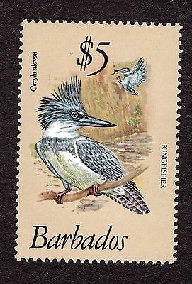 1979 Barbados 5$ belted kingfisher SG637 MNH R31266