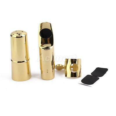 Professional Soprano Saxophone Mouthpiece #5 w Cap Ligature Pads Gold Plated