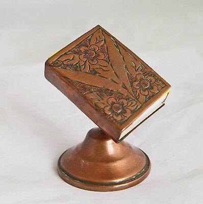 Edwardian Copper Matchbox Holder And Stand