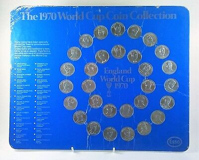 Esso 1970 football World Cup England team coins - complete collection