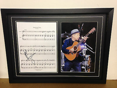 Paul Simon Genuine Hand Signed/Autographed Songsheet with a Photo and COA