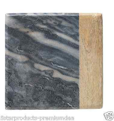 New Ecology Market Square Cheese Board Black Marble Wood Serving Cutting Meat