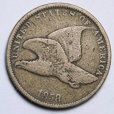 1858 S.L. Flying Eagle Cent Penny CHOICE VG FREE SHIPPING E122 CE