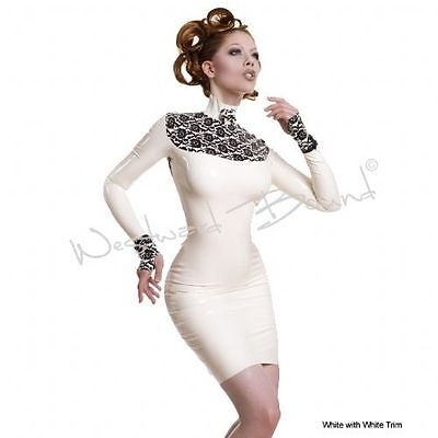 NP400€ latex kleid heavy rubber designer print pin up westward bound