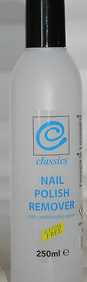2 x  Classics Nail Polish Remover 250ml  - Acetone Free - Buy One Get One Free !