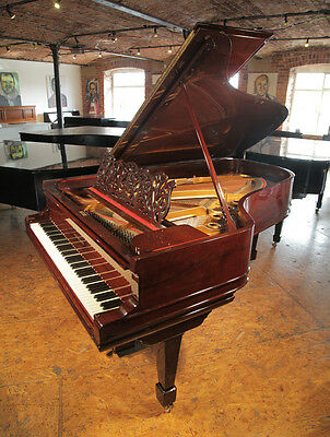 Antique, Steinway Model B grand piano with a rosewood case. Filigree music desk