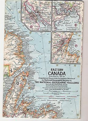1967 Eastern Canada National Geographic Map