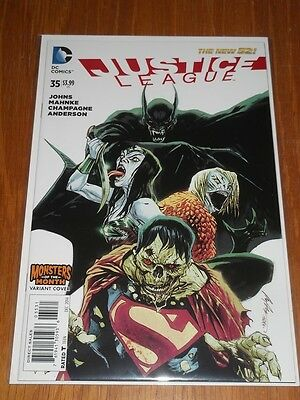 Justice League #35 Dc Comics New 52 Monsters Of The Month Variant Nm (9.4)