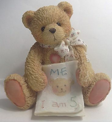 COLOR ME FIVE ~ Age 5 Birthday Bear ~ 1992 ~ CHERISHED TEDDIES 911291