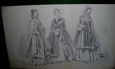 Antique Fashion Plate- Not Colorized