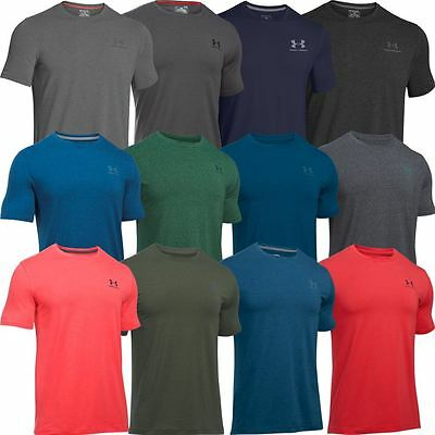 Under Armour 2017 Charged Cotton Sportstyle Logo Chest Mens Training Gym T-Shirt