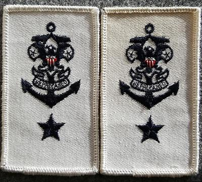 Sea Scout Epaulets Mate/Ship Committee on White Twill - Early 60's Mint - BSA
