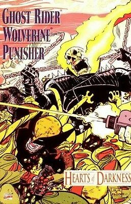 """Comic Marvel """"Ghost Rider/ Wolverine: Hearts of Darkness #1 One-Shot"""" 1991 NM"""