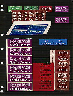 Royal Mail Labels on stock page incl Special Delivery & Express