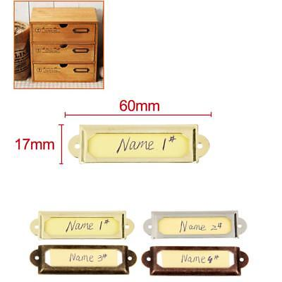 50x Library File Drawer Cabinet Tag Frame Label Card Holder Pull Handle Knob