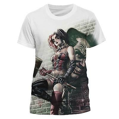 Harley Quinn Wall Art Sublimation Unisex Official DC Comics Licensed T-Shirt