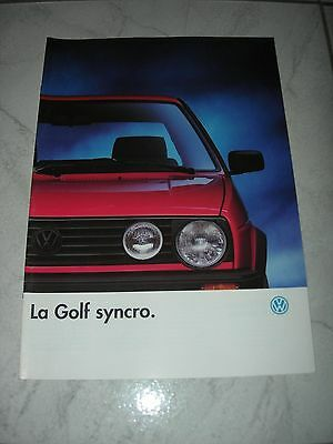 brochure VW Golf SYNCRO  Aout 1989
