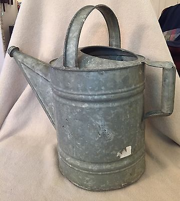 Vintage Large Galvanized Watering Can #12