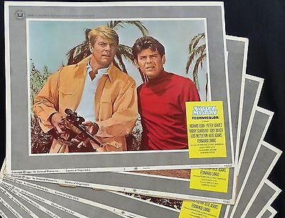 Valley Of Mystery 1967 Full Set 8 Vintage Lobby Film Cards Posters Peter Graves