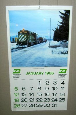 Burlington Northern 1986 calendar