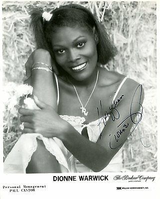 Autographe Dionne Warwick (75 Ans) Photo Dedicacee Signed Signiert Autografo