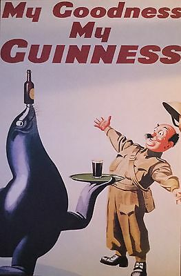 GUINNESS Beer Poster - BEER Full Size 24x36 Print ~ My Goodness My Guinness SEAL