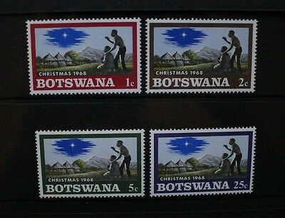 BOTSWANA 1968 Christmas. Set of 4. Mint Never Hinged. SG249/252.