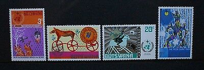 BOTSWANA 1973 IMO Meteorology Norse Mythology Set of 4 Mint Never Hinged SG304/7