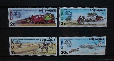 BOTSWANA 1974 UPU Centenary Aircraft. Set of 4. Fine USED. SG318/321.