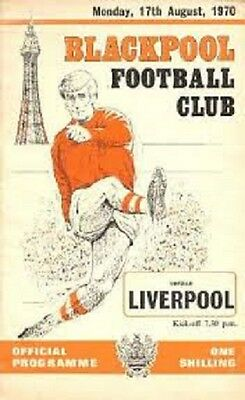 10 Different Blackpool  Programmes