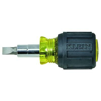 Klein Tools Stubby Heavy Duty Screwdriver Multi Bit Nut Driver Steel Hand Tool