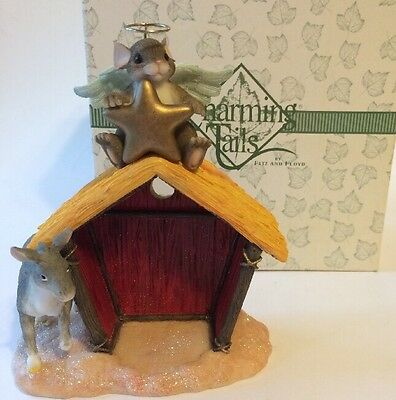 Fitz and Floyd Charming Tails A House Of Blessings Nativity Stable # 87/251