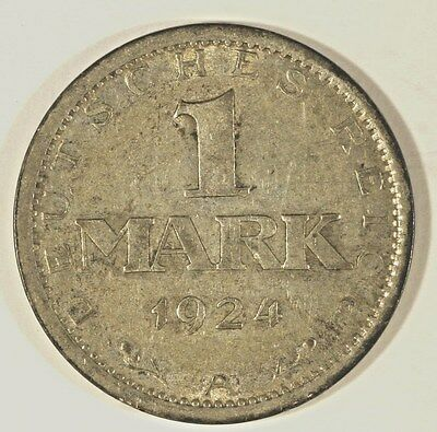 1924 A Germay 1 Mark Silver