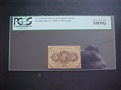 PCGS CURRENCY choice about new 55 PPQ 5 CENT FRANCTIONAL CURRENCY