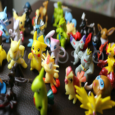 24 PCS Pokemon Mini Figures Brand New UK Seller Fast & Free Postage Larger Size