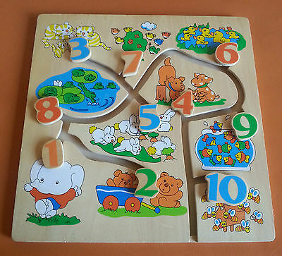 wooden counting teaching numbers