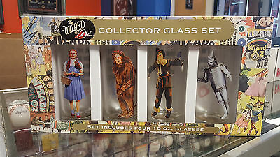 Set of 4 Wizard of Oz Collector Drinking Glasses, 10 oz., Glass, Character Art