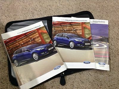 FORD FOCUS  OWNERS MANUAL -OWNERS HANDBOOK 2013-2016 and service book