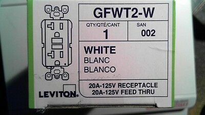 Leviton Self Test Gfci Outlet Tamper Resistant 20A-125V Gfwt2-W White New