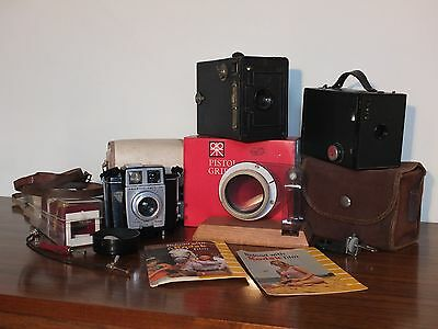 """""""PRICE REDUCED"""" Great Selection of 3 Vintage Cameras and Many Vintage Extras"""