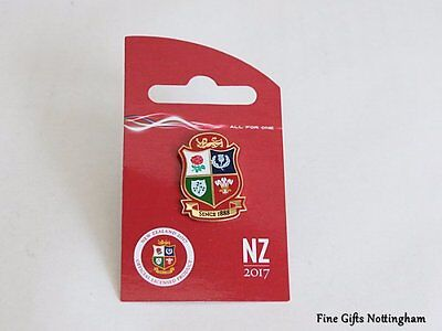 2017 British & Irish Lions Rugby Tour Shield Pin Badge - New Zealand Tour