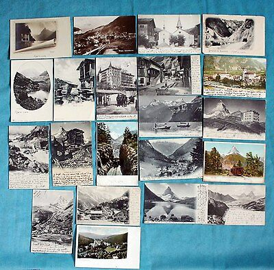 Collection Of 21 Early Postcards Switzerland Some Rp , Posted 1902-1905, 1 1923