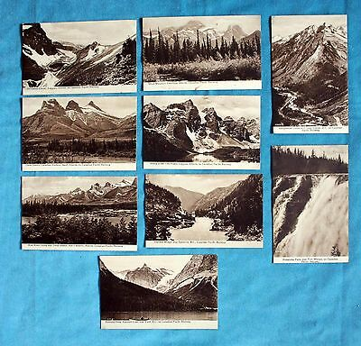 9 Early Printed Postcards Canada B.c. Canadian Pacific Railway Views Valleys