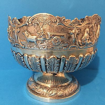 Fine Quality Indian Silver Rose Bowl c1880