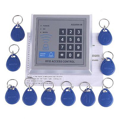 RFID Access Control Door Access Entry Control Lock + 10 Key Fobs ED